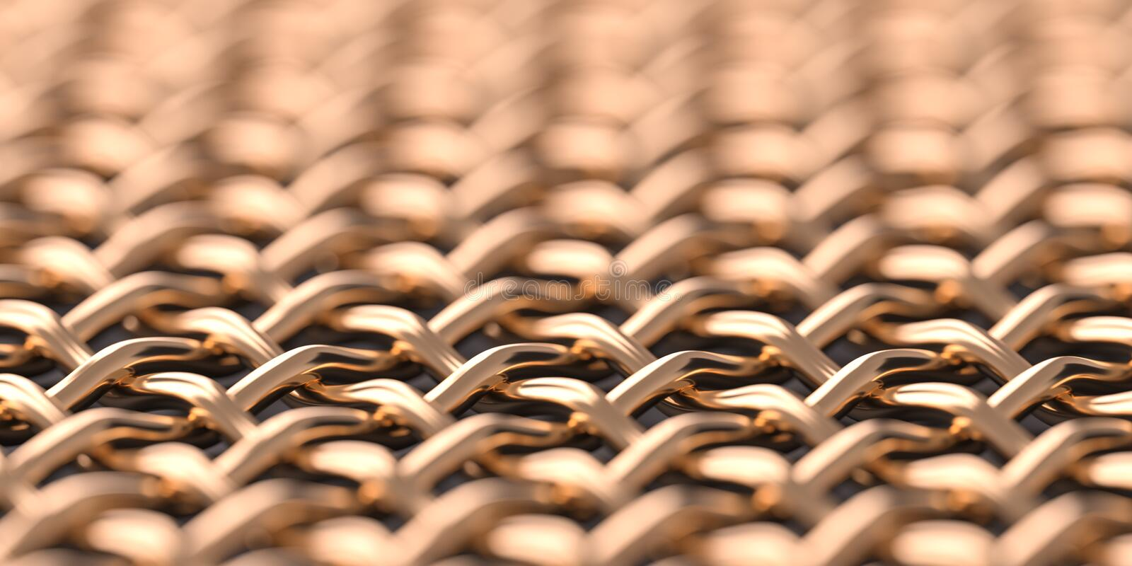 Copper mesh macro background royalty free stock photography