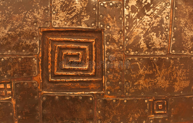 Copper Metal Texture Stock Image