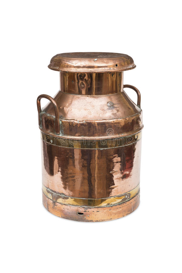 A Copper Milk Churn stock photo