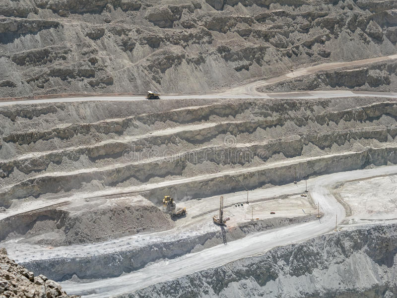 Copper mine in Chile royalty free stock photos