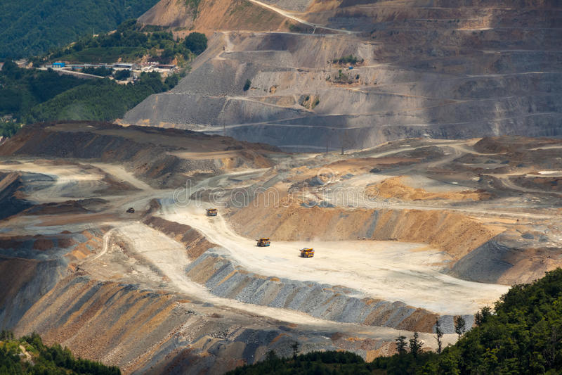 Copper mine royalty free stock photography