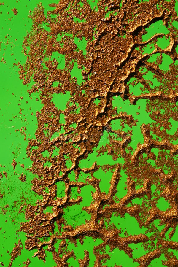 Copper paint on green royalty free stock images