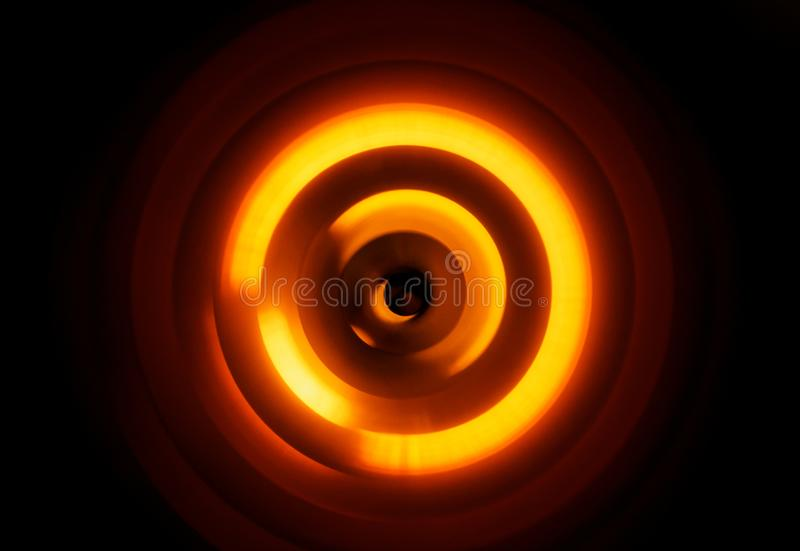 Circles of fire stock image