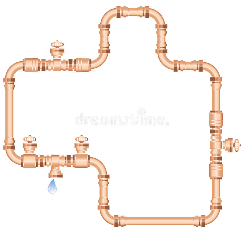 Download Copper pipes stock vector. Image of drool, sparkle, drip - 25504049
