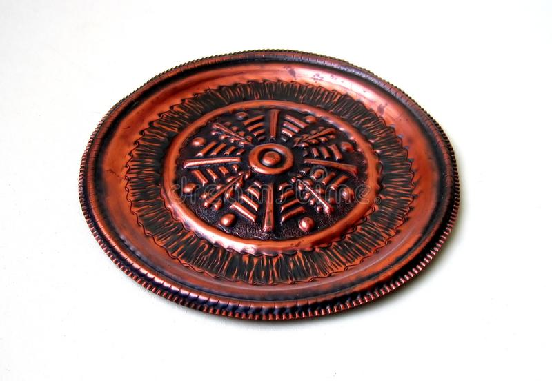 Copper Plate Isolated Stock Photography