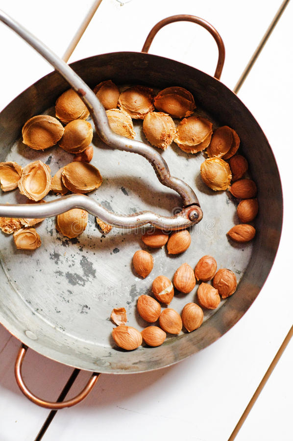 Download Copper Pot With Apricot Seeds Stock Photo - Image: 26567560