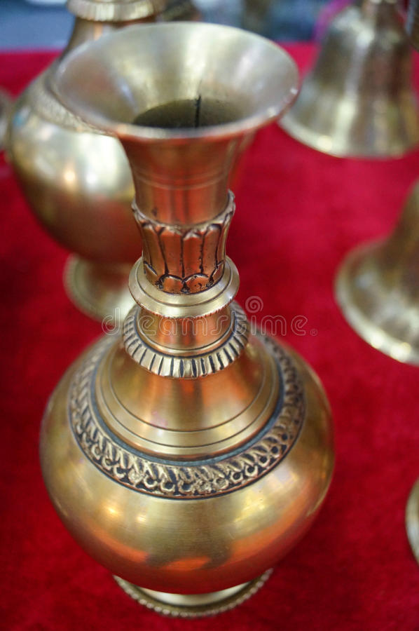 This is copper products from Nepal stock images