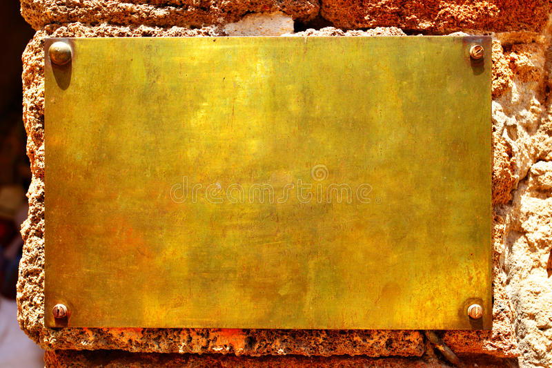 Download Copper signboard stock photo. Image of gold, object, sign - 9667726