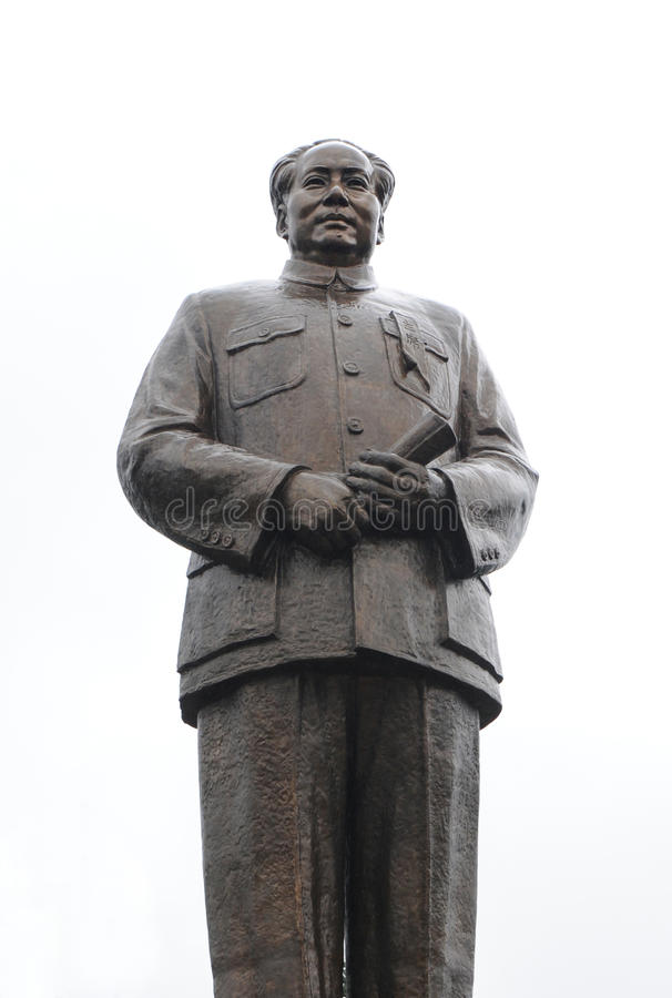 Copper Statue Of Chairman Mao Zedong On October 1, Editorial Photo