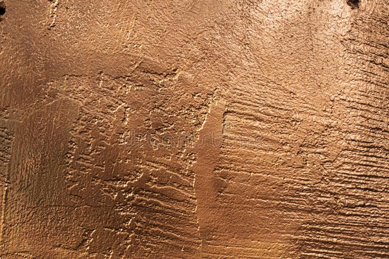 Copper stone texture panel outside-2 royalty free stock photo