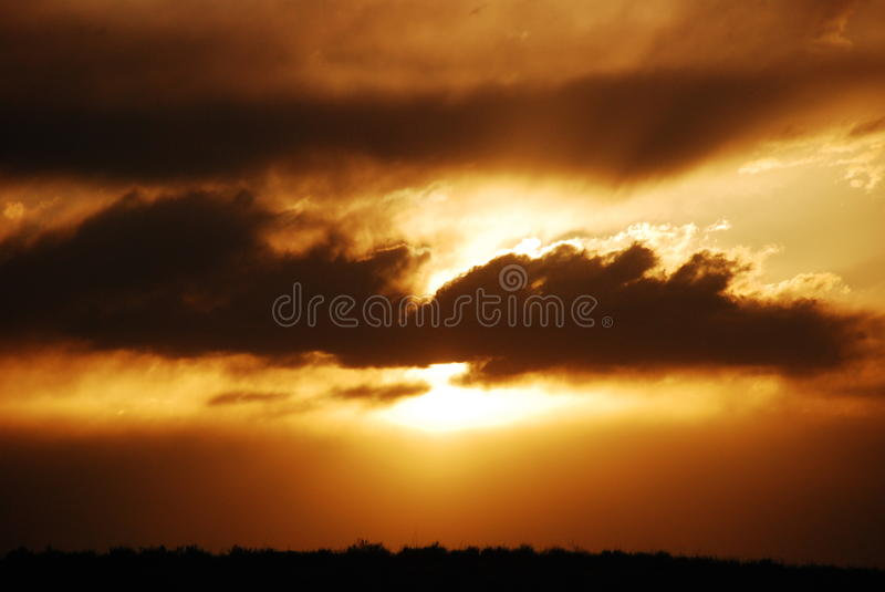 Copper Sun Glow stock images