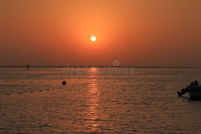Copper sunrise stock photo