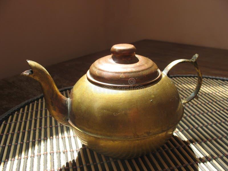 Copper teapot stock image