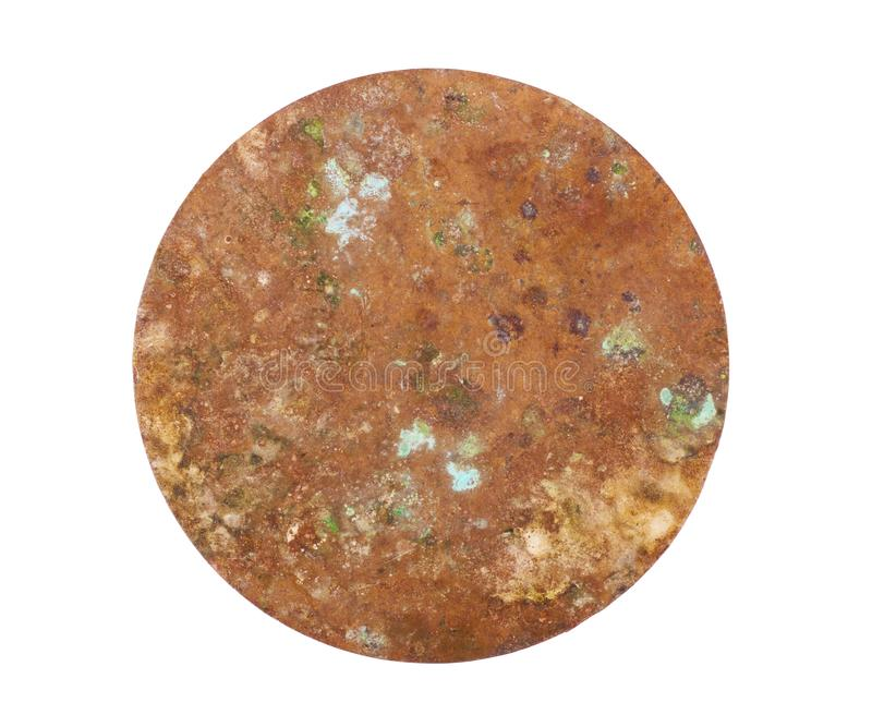 Copper washers on isolated background, gaskets on an isolated background, Flat copper washers on isolated background, Round copper. Washers on isolated stock images