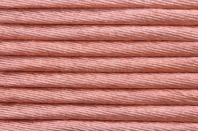 Copper Wire For The Power Industry Royalty Free Stock Photo