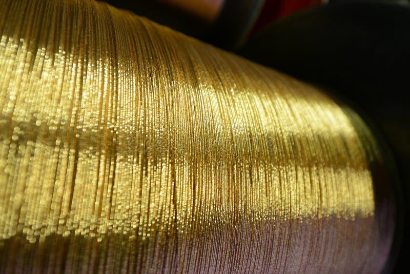 Copper wire. Spool of copper wire, cable production stock photo