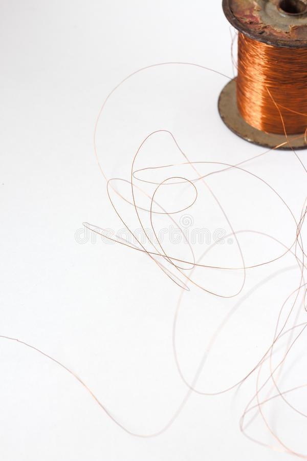 Roll Of Solder Lead Wire Isolated On The White Background . Stock ...