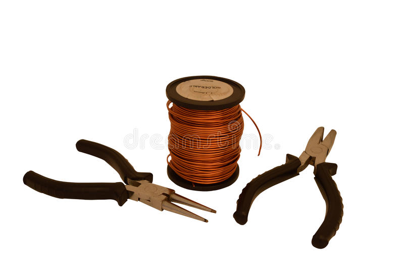 Copper wire and tools stock image. Image of copper, cable - 58958185