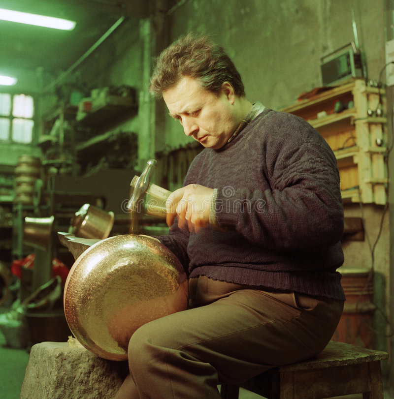 Download Copper worker stock image. Image of once, work, ancient - 2202919
