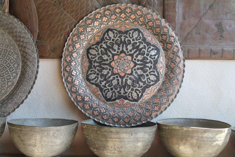 Copperware feito a mão imagens de stock royalty free