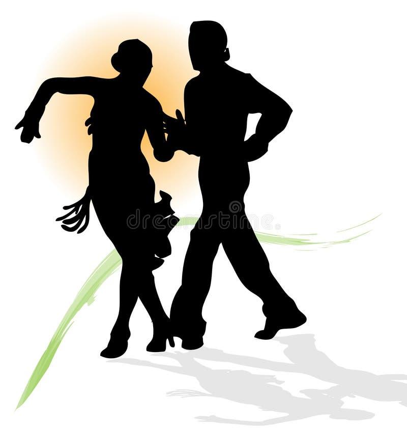 Coppia il Latino di dancing. illustrazione vettoriale