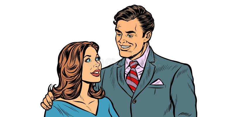 Coppia il marito e la moglie illustrazione di stock