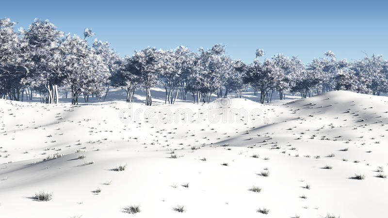 Coppice зимы бесплатная иллюстрация