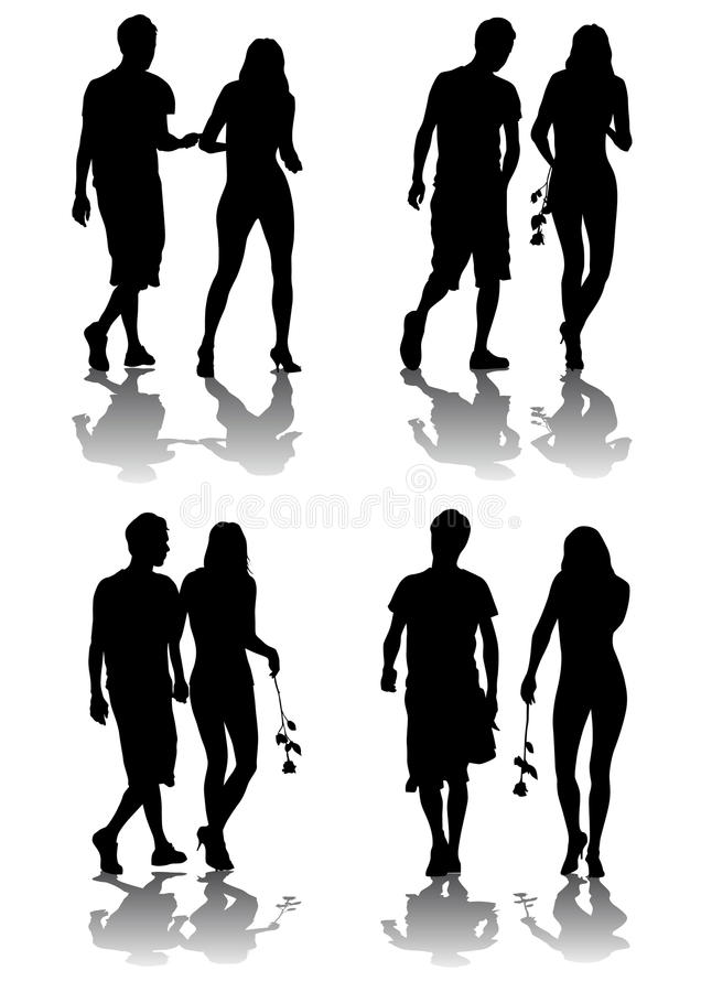 Coppie amorose illustrazione vettoriale