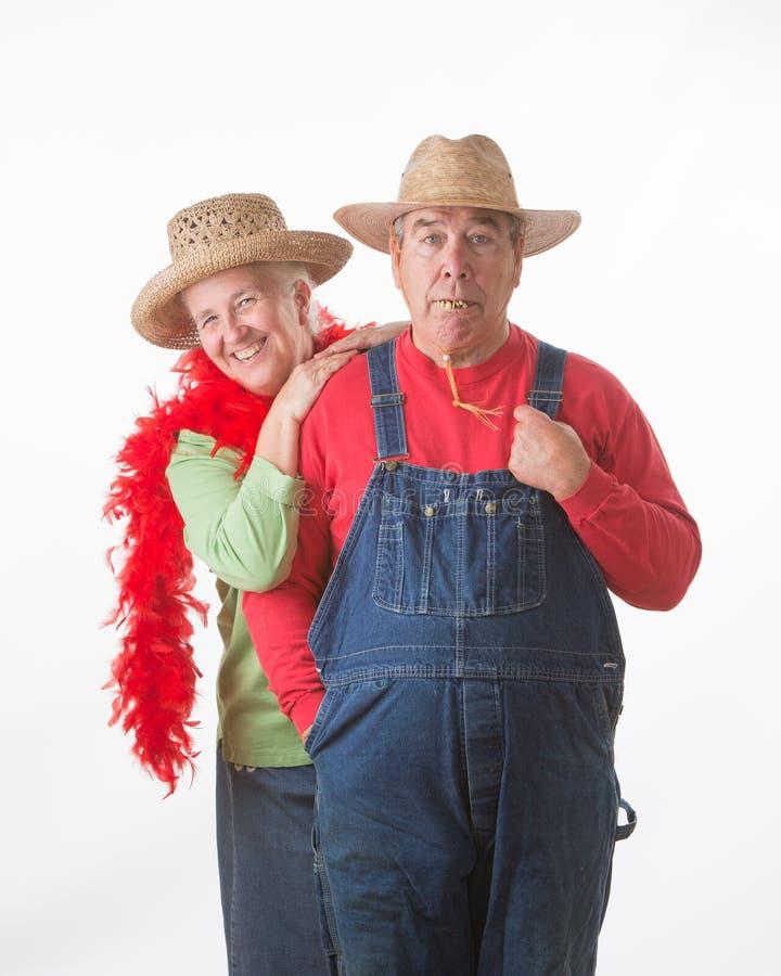 Coppie anziane divertenti immagini stock libere da diritti