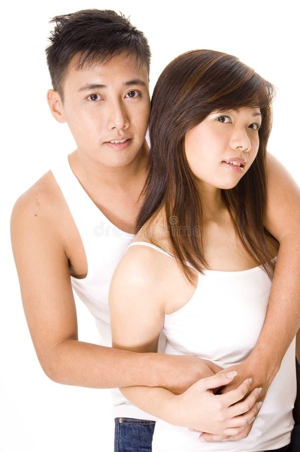 Coppie asiatiche 1 immagini stock