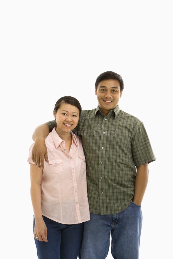 Coppie asiatiche adulte metà di. fotografia stock
