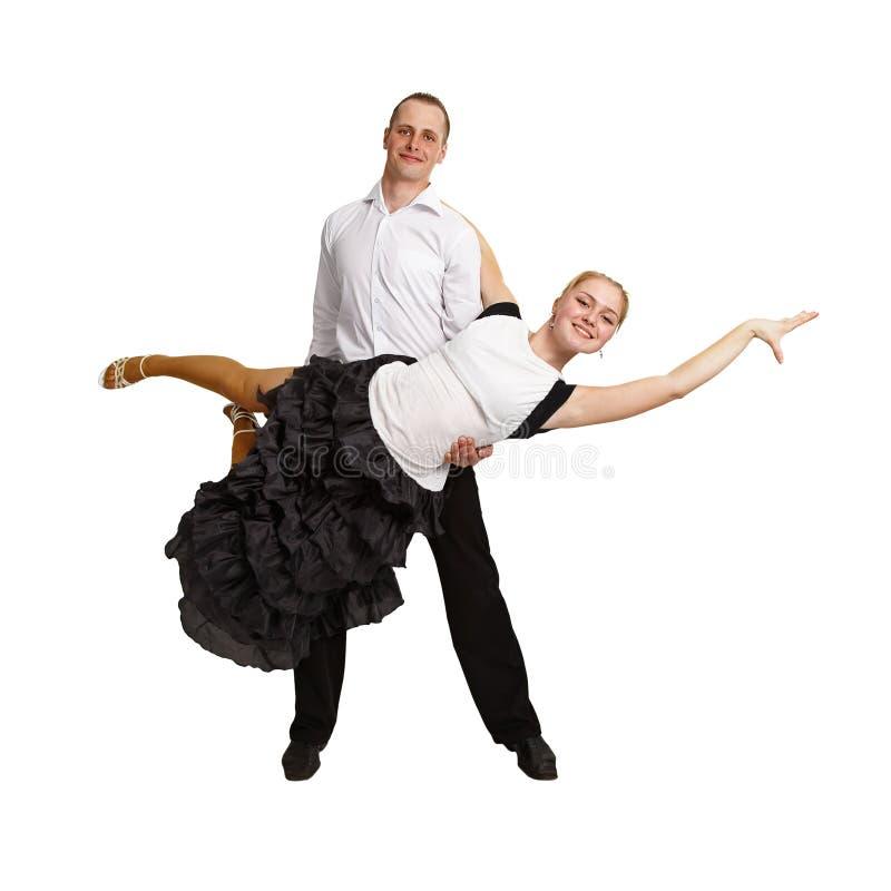 Coppie che effettuano ballo di sala da ballo fotografia stock libera da diritti