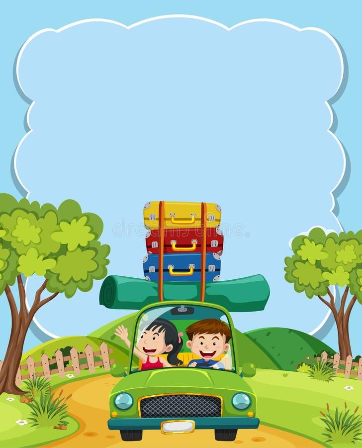 Coppie che vanno su un viaggio stradale illustrazione vettoriale