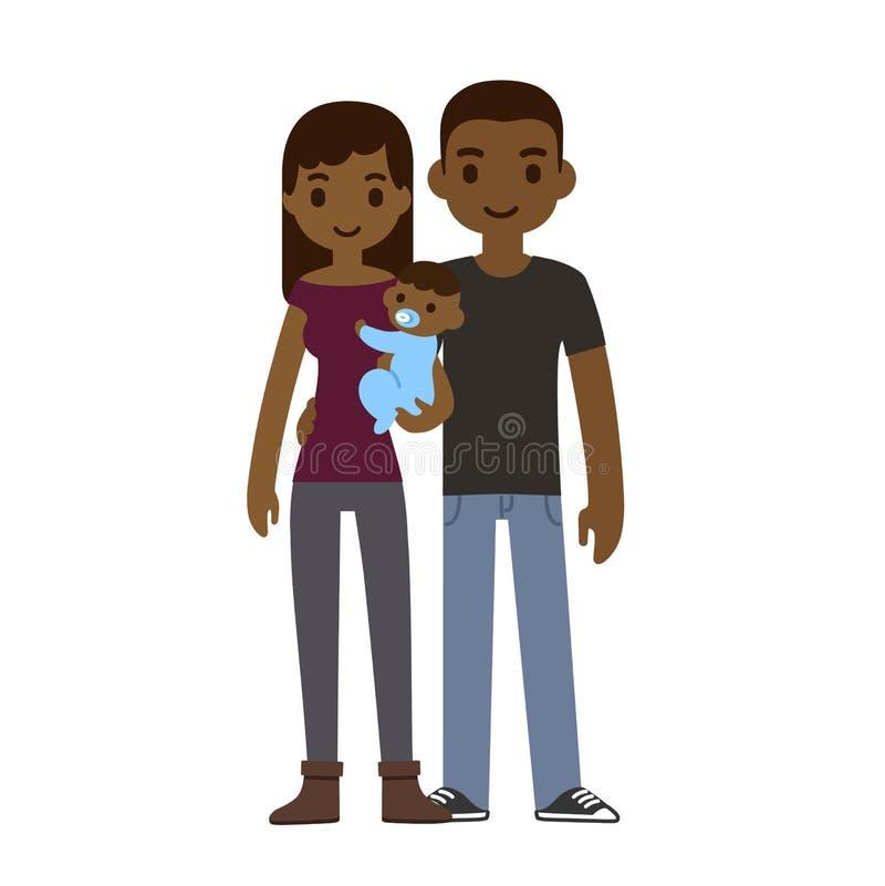 Coppie con il bambino illustrazione di stock