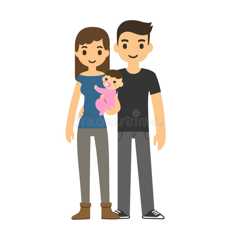 Coppie con il bambino illustrazione vettoriale