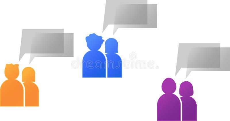Download Coppie Con La Conversazione Della Bolla Illustrazione Vettoriale - Illustrazione di idea, uomini: 21550117