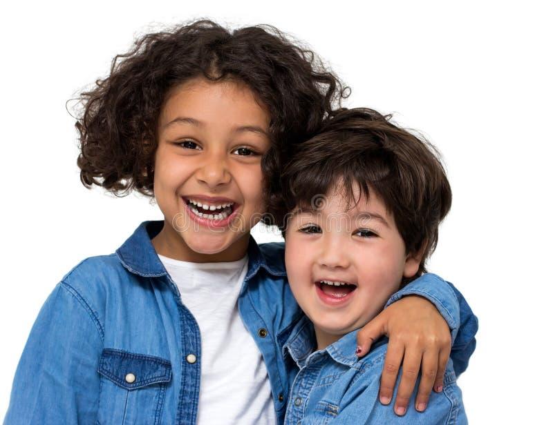 Coppie dei bambini fotografia stock