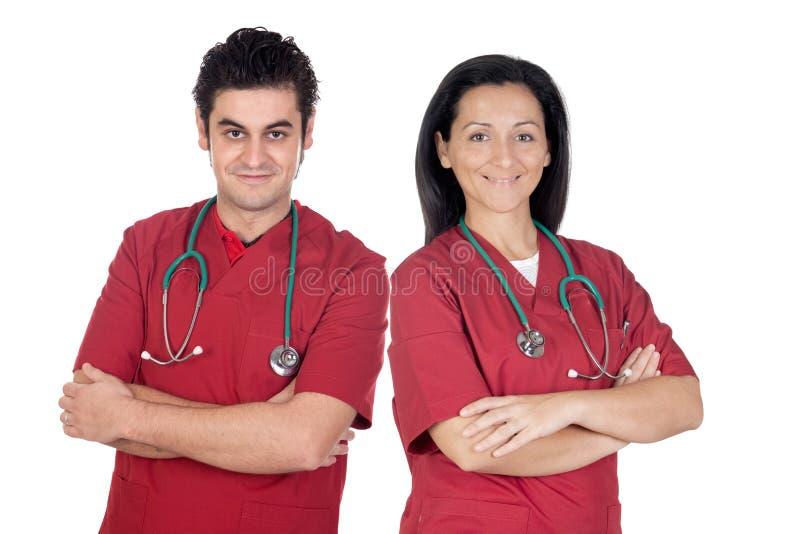 Coppie dei medici fotografie stock