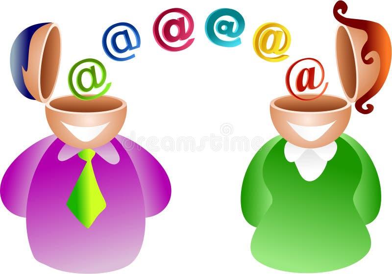 Coppie del email illustrazione vettoriale