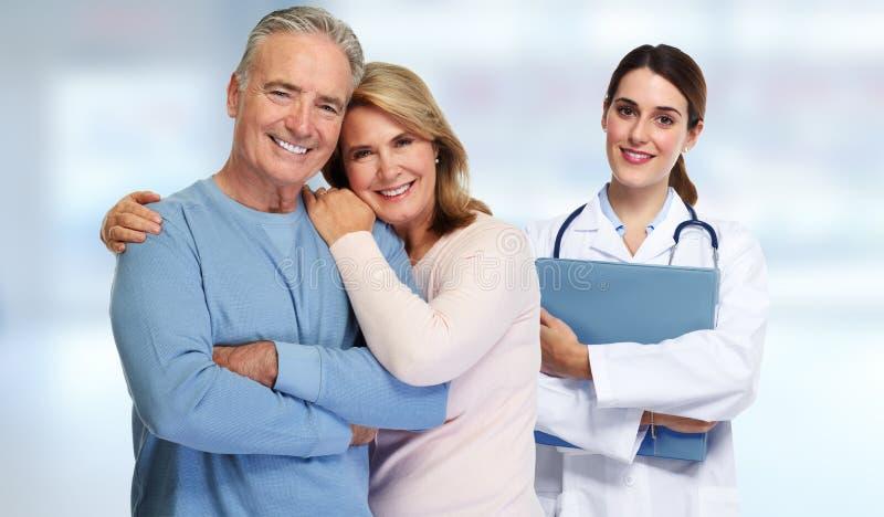 Coppie del paziente e di medico immagine stock