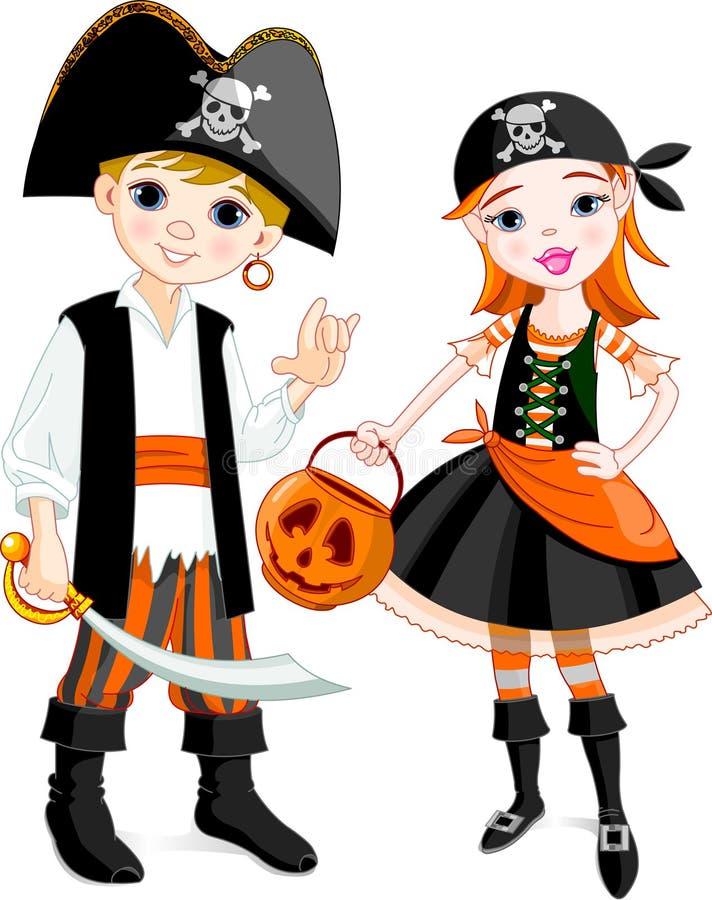 Coppie del pirata illustrazione di stock