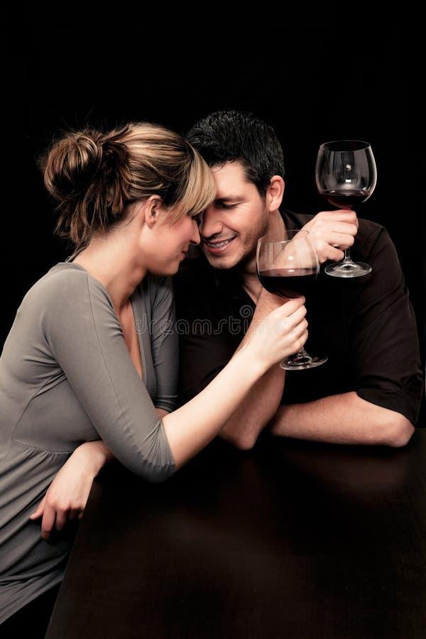 Coppie del ristorante del vino immagine stock libera da diritti