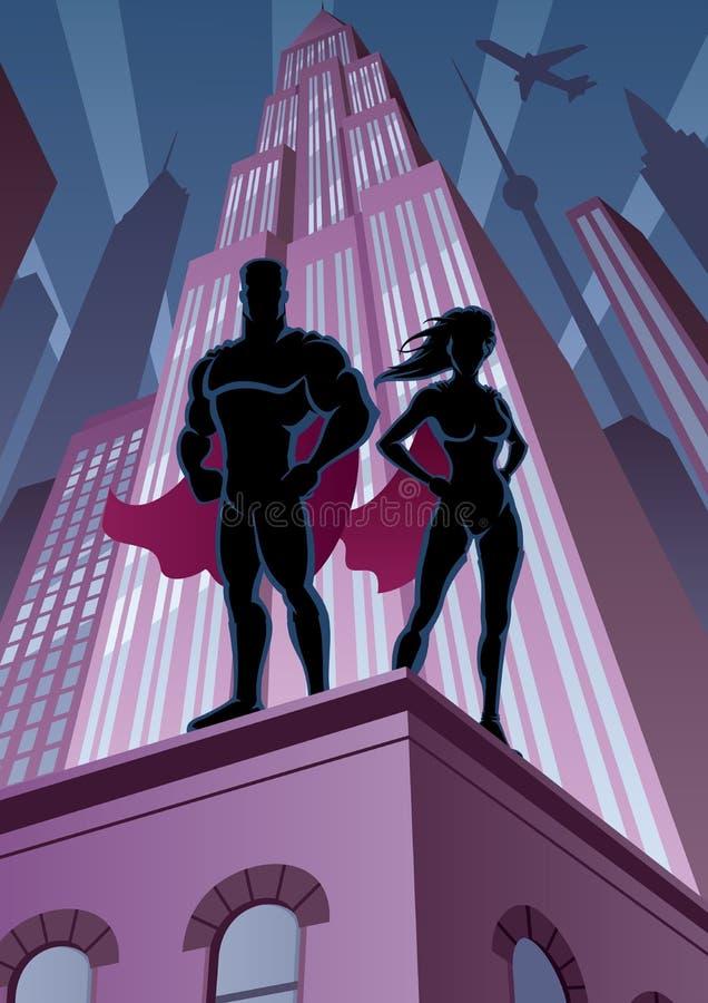 Coppie 5 del supereroe illustrazione di stock
