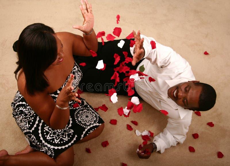 Coppie dell'afroamericano fotografie stock