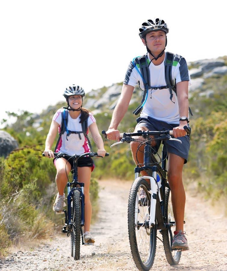 Coppie della bici fotografie stock libere da diritti