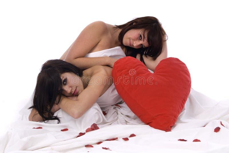 Coppie della donna lesbica nell'amore immagini stock libere da diritti