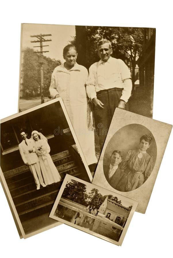 Coppie delle foto dell'annata immagine stock libera da diritti