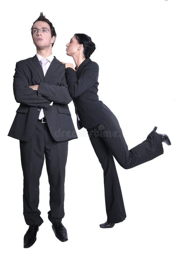 Coppie di affari in vestiti scuri immagini stock