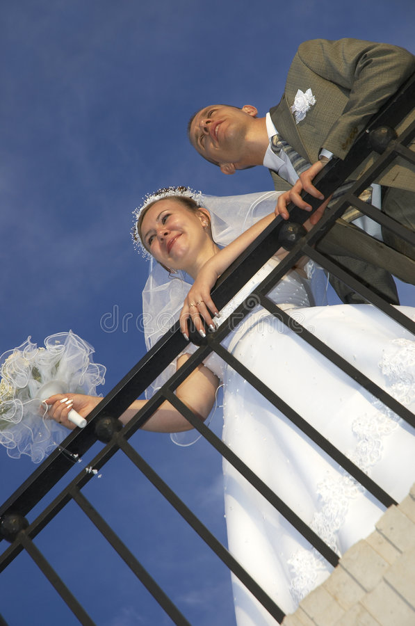Coppie di cerimonia nuziale fotografie stock libere da diritti