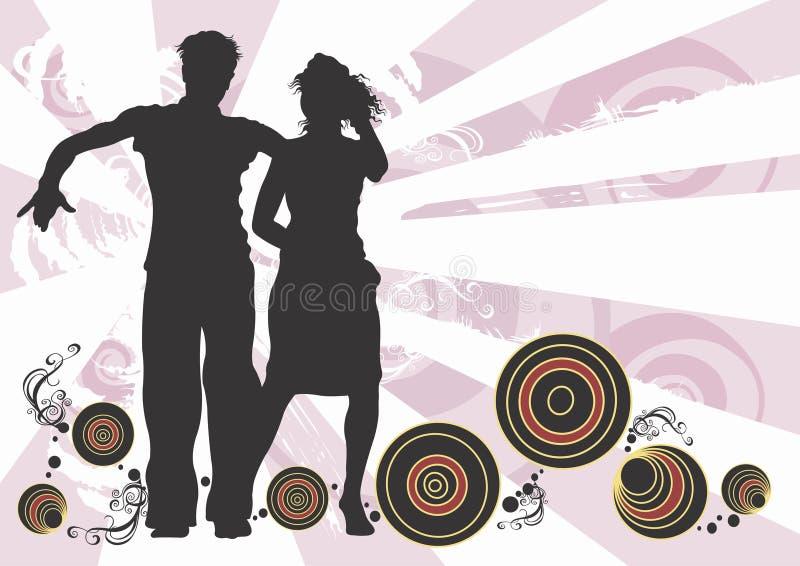 Coppie di Dancing illustrazione vettoriale